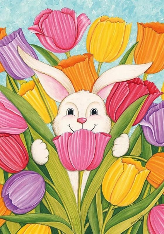 Deb Strain –– Bunny in Tulips (560x800)