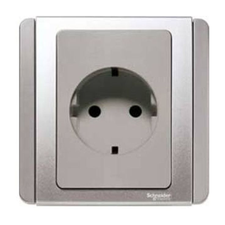 NEO 1 Gang Kotak Kontak Type Schuko Silver.  - Complete range to provide your needs, - Quality to ensure your Safety, - Aesthetically Stunning for your place - Harga untuk 1 Buah.  http://kliklistrik.com/neo/438-neo-1-gang-kotak-kontak-type-schuko-silver.html  #neo #stopkontak #schneider