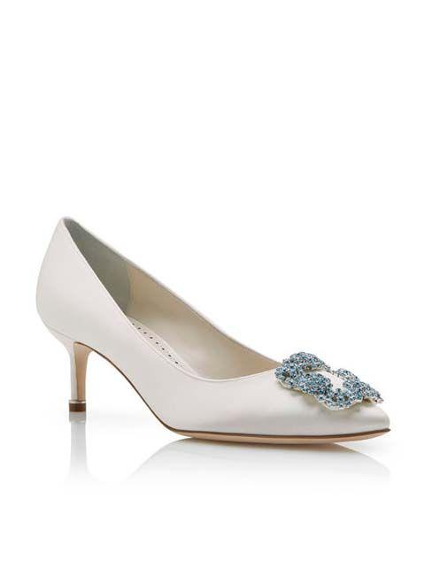 zapato de manolo blahnik (hangisi 50), categoría novia #wedding