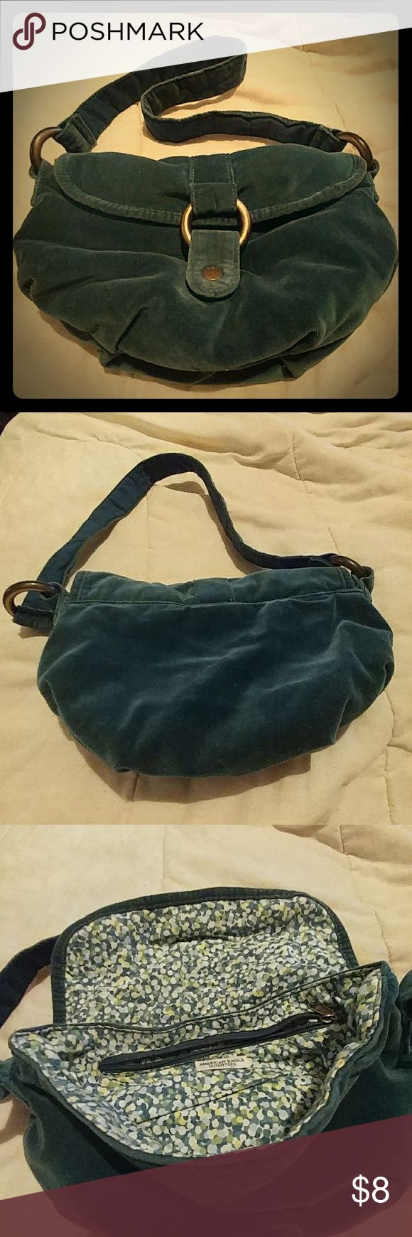 American Eagle Outfitters Purse Dark green suede purse American Eagle Outfitters Bags Shoulder Bags