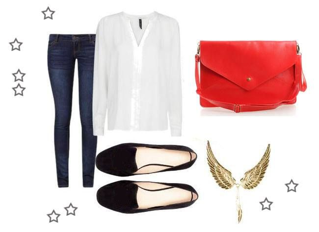 Daily outfit made by Broshka.  Red bag is available on www.broshka.pl