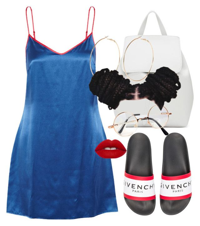 """""""Ghetto Fabulous"""" by tyrionnak ❤ liked on Polyvore featuring La Perla, Givenchy, Mansur Gavriel, River Island, Retrò and Lime Crime"""