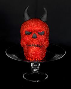 Wicked... Devil Skull Cake with the Williams Sonoma Skull Cake Pan