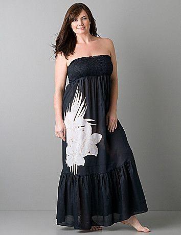 Plus Size Swim Cover Up Dresses | Plus size Maxi dress swim cover up | Lane Bryant