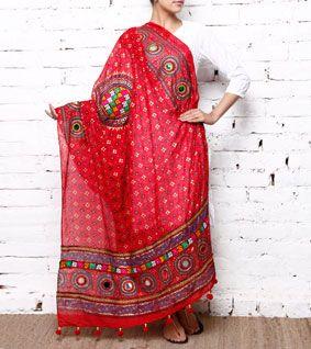 Kutchi Embroidered Dupatta