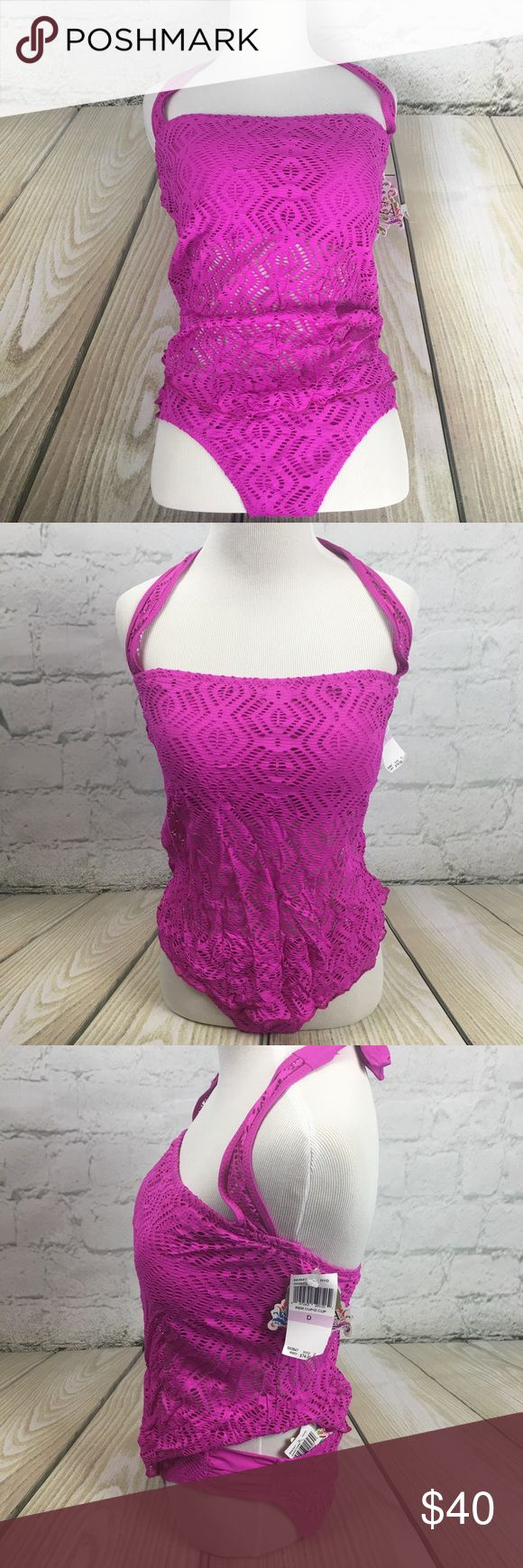 Becca Swimwear Purple tankini size L D-cup NWT Gorgeous magenta swimsuit NWT.   top is Size D cup bottom is size Large. BECCA Swim