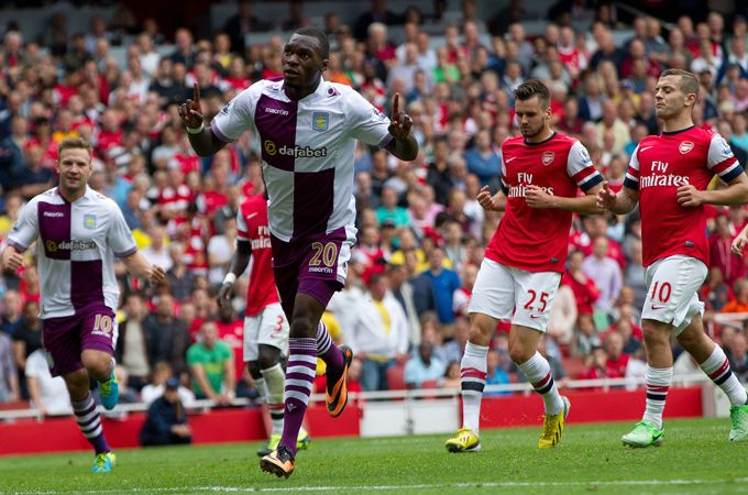 Christian Benteke #AVFC - That man has started right where he left of last season. 3 goals in 3 games including goals against Arsenal & Chelsea. Great for Villa to have kept hold of the Belgian striker.