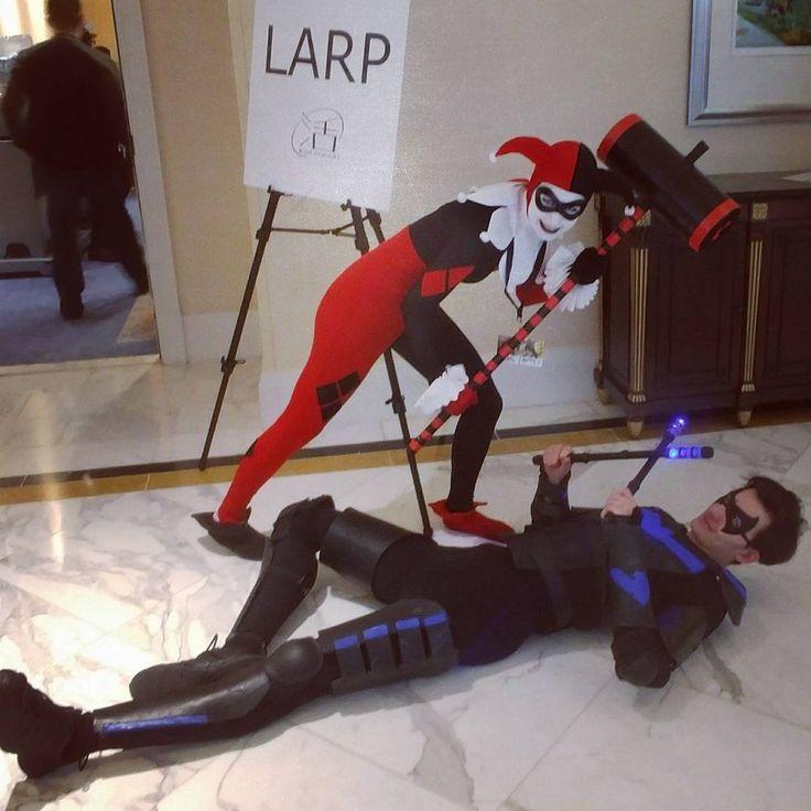 """Nighty-night Batnight!"" @will_charming  #harleyquinn #harleenquinzel #nightwing #harleyquinncosplay #harleyquinncosplayer #nightwingcosplay #batman #batmancomics #dc #dccomics #batmantheanimatedseries #comiccosplay #cosplay #cosplayer #cosplaygirl #cosplaygirls #katsucon #katsucon2018"