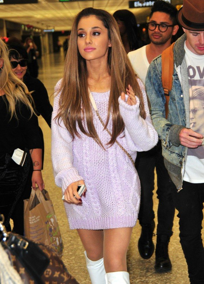 Ariana Grande Jets Out Of Washington D.C. In Her Sweater Dress + Go-Go Boots — Check Out The Pics! – TeenInfoNet