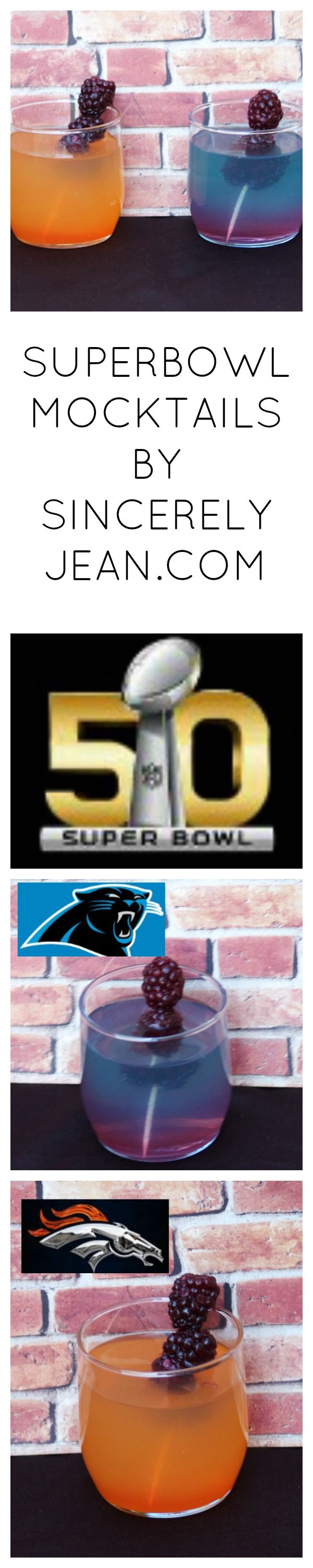 Superbowl 50 Mocktails! Broncos or Panthers? Orange or Blue? Everyone at your party will love them #superbowl #party #superbowl50 #2016 #orange #mocktail #blue #denver #carolina #broncos #panthers