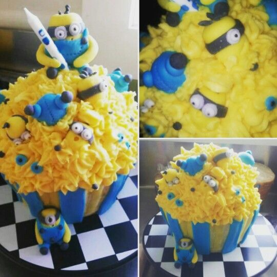 Totally adorable minion cake. Made by www.facebook.com/totaleventplanning