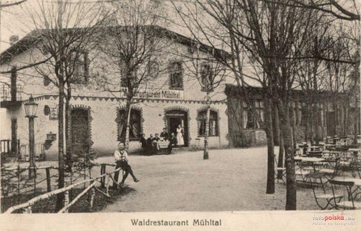 Restauracja Leśna (Waldrestaurant Mühltal), Bydgoszcz - 1914 rok, stare zdjęcia