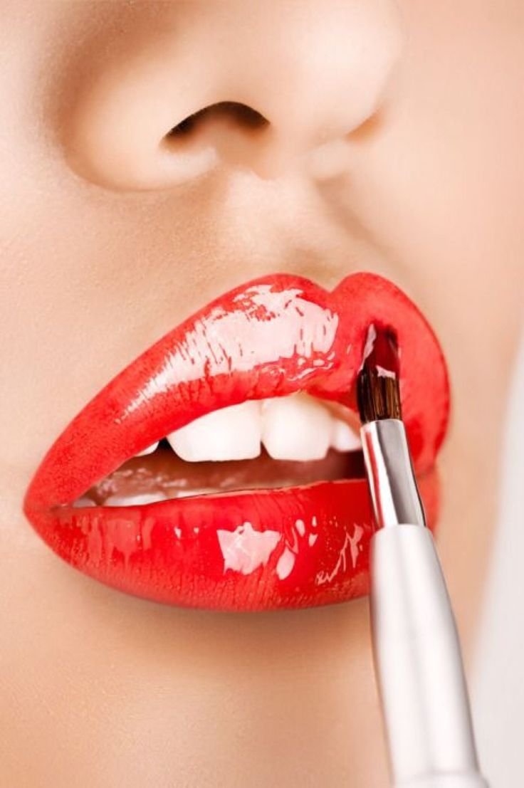 make-up, lips, red