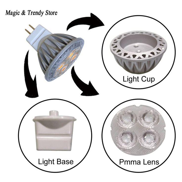 MR11 LED Spotlight Bulb 12V Warm/Cool white Energy Saving LED Bulb Lamp Replace 3W Halogen Lamp for Home