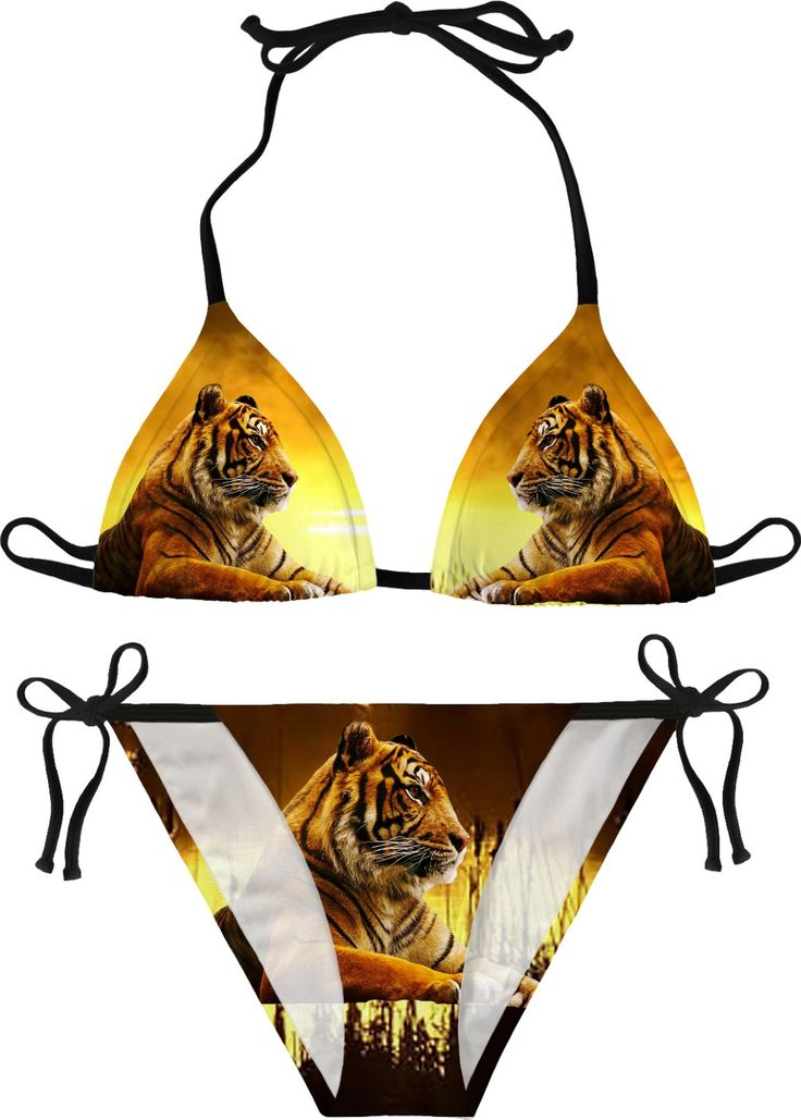 Tiger and Sunset Bikini #erikakaisersot #RageOn #bikini #tigers