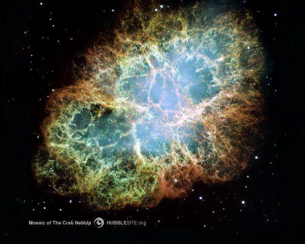 la nébuleuse du Crabe est le rémanent de la supernova de 1054