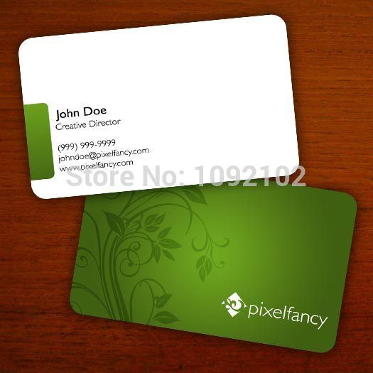 Free Shipping Custom Design Pvc Plastic Business Card Template