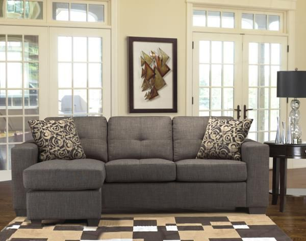 Gray reclining sofa sofa ottoman with 2 pillows dark for Reclining sectional sofa with ottoman