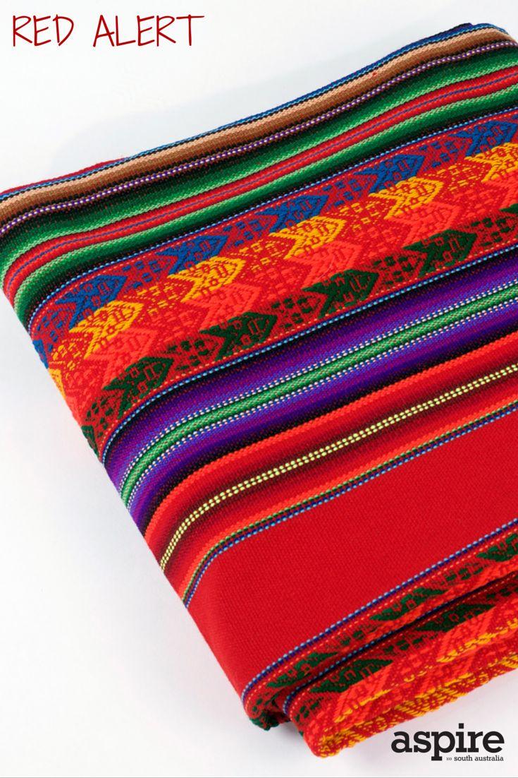 Peruvian alpaca wool blanket $110 from Mewali https://mewali.com.au/   #Red #Blanket #Shopping #Adelaide #Peruvian #SouthAustralia