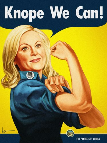 Knope we can't. Parks and Rec.  The Art Of Mike Mitchell Snarky Me