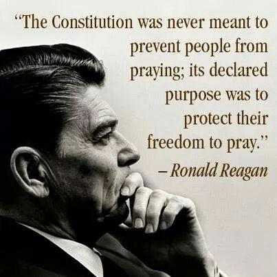 President Reagan knew the importance of Religious Freedom.