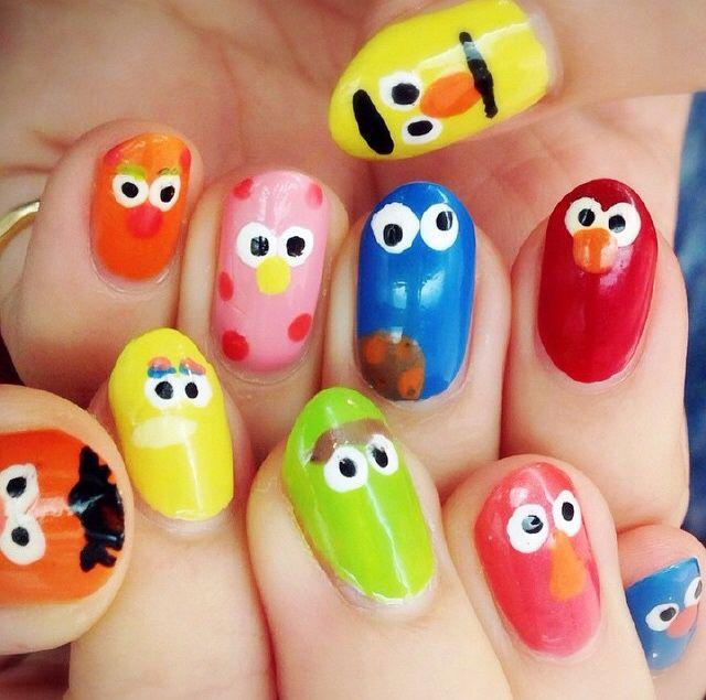Sesame Street nail