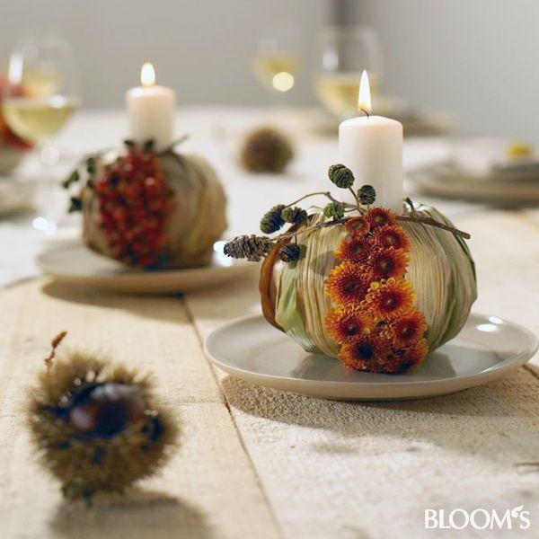 Visszafogott őszi asztal