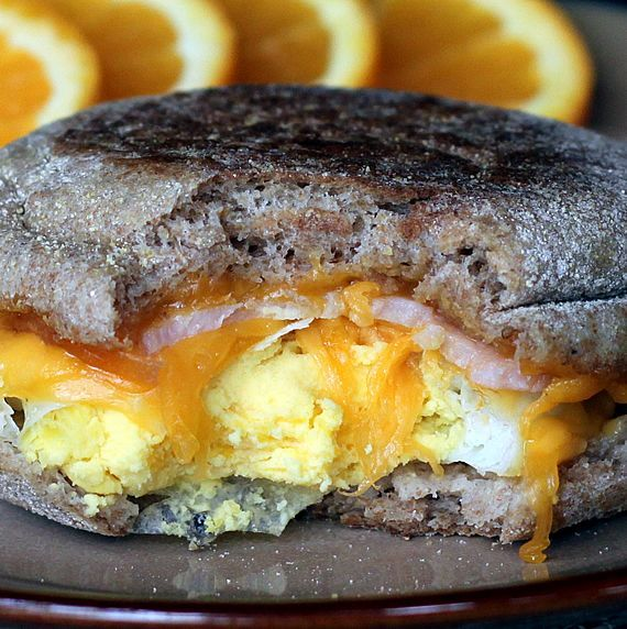 Make-Ahead, Healthy Egg McMuffin Copycats: These were pretty good, but I made the eggs too thick, and inevitably, one of them ended up being frozen in the middle, and that was enough of that!
