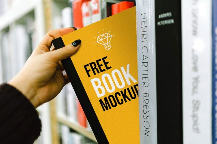 Woman Hand Holding Book Cover Book Cover Mockup Free Mockup