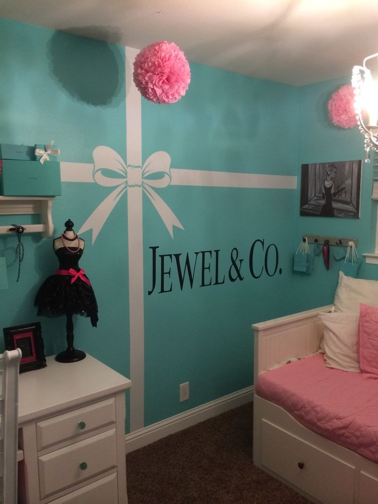 Elegant Tiffany U0026 Co Themed Room With Pops Of Pink.