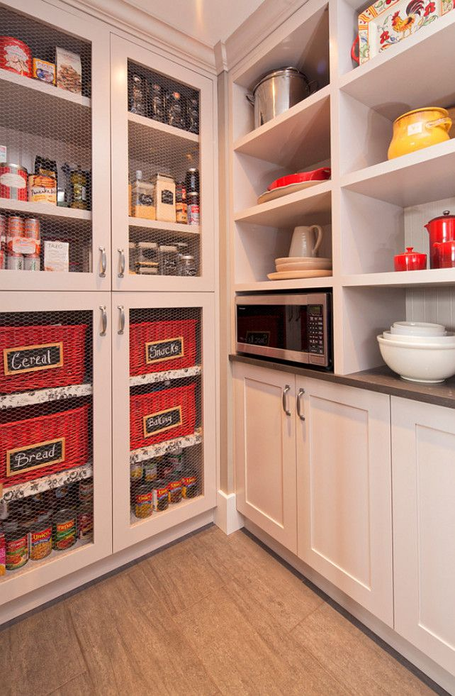 Pantry S Stock Cabinet Transformed By Using Chicken Wire
