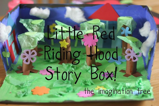 Make a story box to accompany a child's favourite book and re-tell it together. An enriching literacy activity that can be adapted for any age group, topic or genre! http://theimaginationtree.com/2012/04/little-red-riding-hood-story-box.html Little Red Riding Hood Story Box - The Imagination Tree