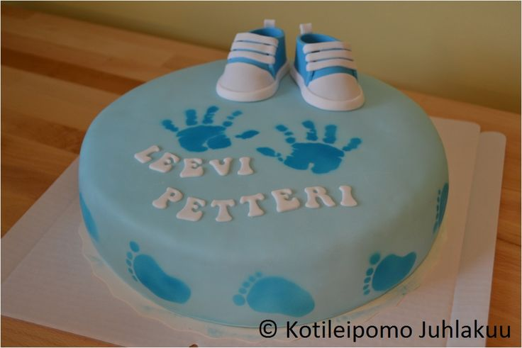Naming cake for a baby boy