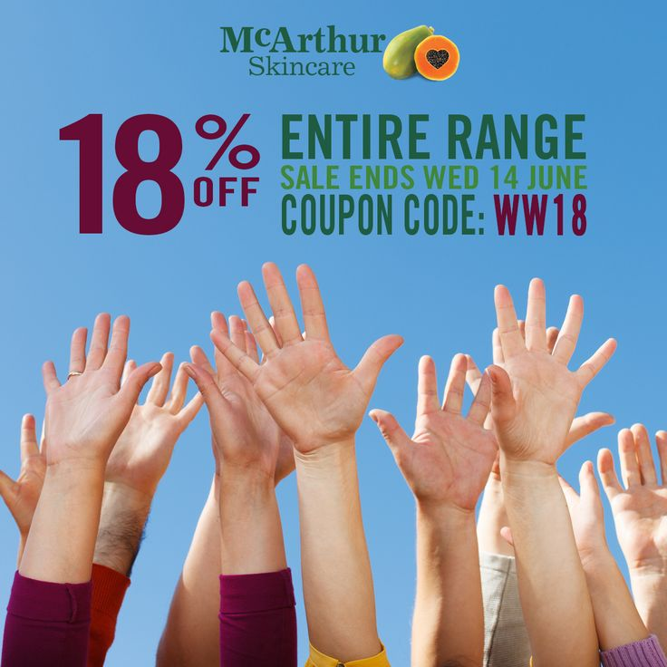 So who would like 18% OFF the entire McArthur Skincare range?  YOU can save 18% OFF the Entire Range of McArthur Skincare products during our Winter Warmer Sale in our online store by simply entering the coupon code: WW18 in the shopping cart checkout.   This offer is not available in conjunction with any other offer. Sale offer expires Midnight (AWST) Wednesday 14th June, 2017.  SHOP NOW: https://shop.mcarthurnaturalproducts.com/therapeutic Use Coupon Code: WW18  #mcarthurskincare #pawpaw…