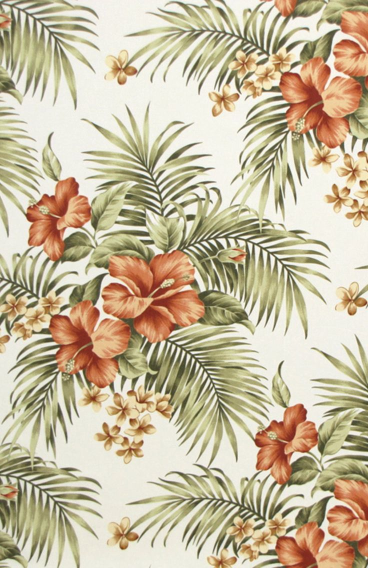 Tropical Floral Hibiscus Palm Leaves; Learn more at HawaiianFabricNBYond.Etsy.com  Aloha :)