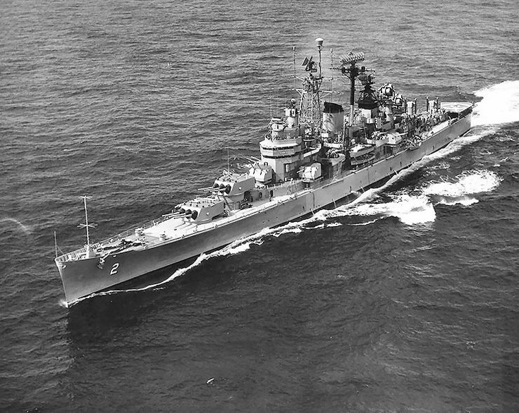photo uss canberra underway during the cuban missile crisis 28 oct 1962