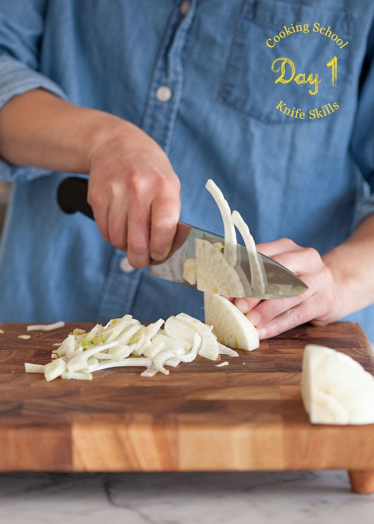 Today's Lesson: Knife Skills The Goal: 20 lessons, 20 days to become a better cook at home Share your progress: #kitchnschool on Instagram & Twitter Enroll & see all the lessons so far: The Kitchn's Cooking School Welcome to The Kitchn's Cooking School! Over the next four weeks, we're going to walk you through the basics of home cooking so you can feel like a confident knife-wielding, onion-juggling, skillet-twirling pro in your kitchen. Let's start at the ...