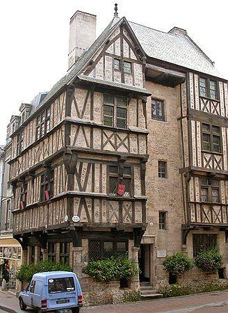 Bayeux, France half timbered house