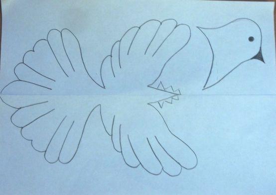 Мастер-класс: «Голубь мира» из ниток и бумаги. Воспитателям детских садов, школьным учителям и педагогам - Маам.ру