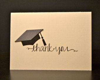 Graduation Thank You Cards and Envelopes 8 by LizzyJaneBoutique
