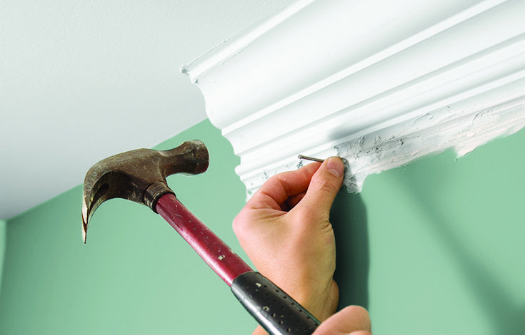 Toh Technical Editor Mark Powers Demonstrates How To Put Up Lightweight Plaster Covered Foam Molding