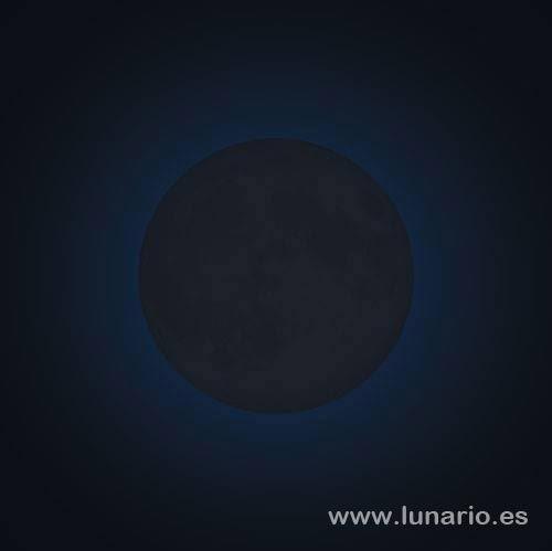Martes 29 se produce la luna nueva o novilunio. Renovación mínima de la energía física.