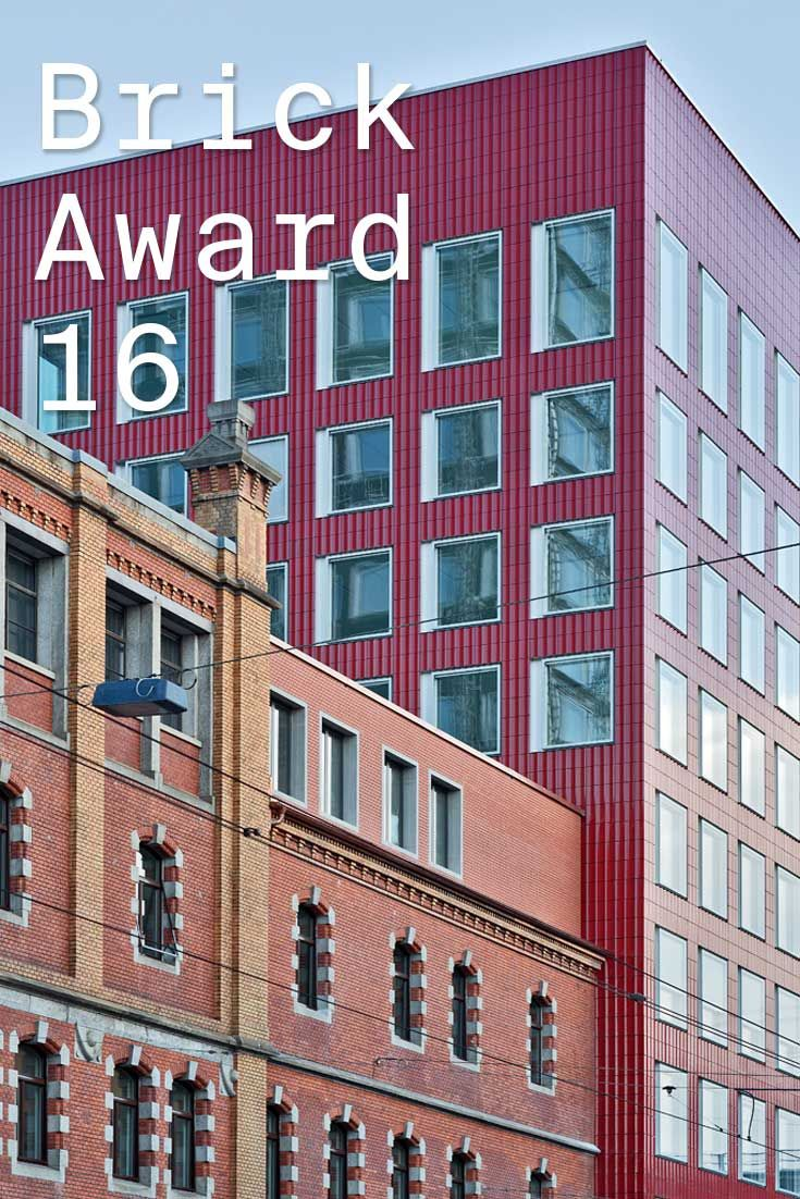 #WienerbergerBrickAward 2016 nominee 37: Löwenbräu-Areal, Zurich by Gigon/Guyer Architects and Atelier WW, Switzerland. The façades of the new buildings, within the historical former brewery complex, are clad with molded glazed ceramic elements. Depending on the light they appear as shimmering shapes and present a changing face to the city. Photographer: René Dürr