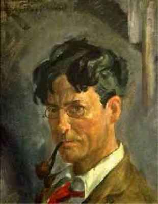 John French Sloan - Self Portrait with Pipe