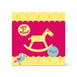 Πρόσκληση αλογάκι για παιδικά γενέθλια