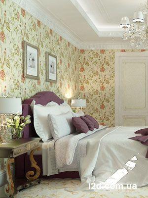 Интерьер спальни - английский стиль. Коттедж 500кв.м