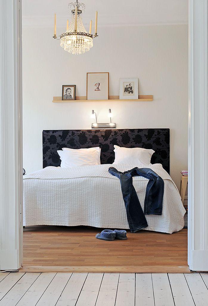 Light  shelf over bed Scandinavian  Bedrooms in 2019