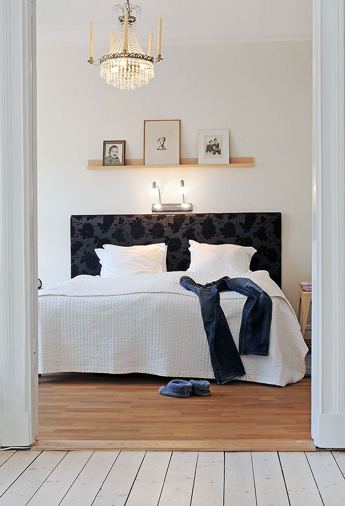 Light Amp Shelf Over Bed Scandinavian Shelf Over Bed