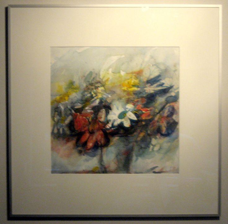 Schilderij van Feridun Ugur in mijn werkkamer.