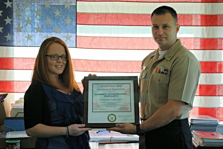 Specialists Gary, Waterproofing Specialists, Basement Waterproofing, Work  Photos, United States Navy, Damian, Receiving, Certificate, Frog Photo Gallery